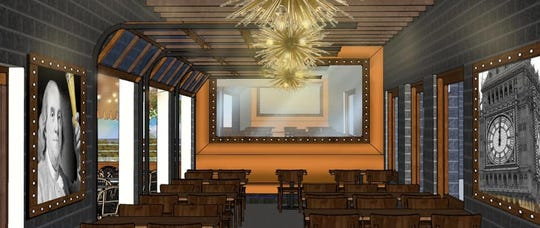 A rendering of what the four season room at Benstein Grille will look like. The Commerce Township restaurant has been open for carryout and is making updates while the dining room is closed due to coronavirus concerns.